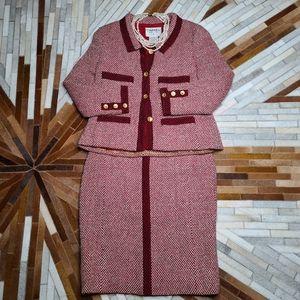 Chanel Tweed Skirt Suit Set
